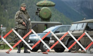 A mobile radar station supplied to cover the Bilderberg conference