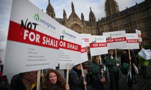 Protests against fracking for shale in London. Anti-fracking parliamentarians in Europe have won a symbolic vote against fracking.