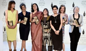 Who needs men? … the writers shortlisted for the 2015 Baileys women's prize for fiction with chair Shami Chakrabarti