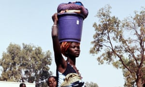 Burkinabe people in the street of Ouagadougou, Burkina Faso.
