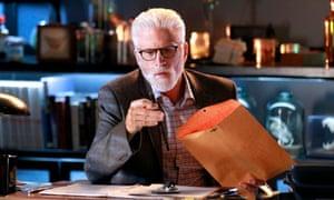 Are forensics eccentric?: Ted Danson in the 15th season finale of CSI: Crime Scene Investigation.