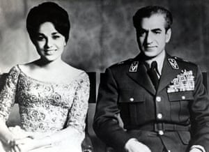 The Shah and Queen Farah Diba in 1960.