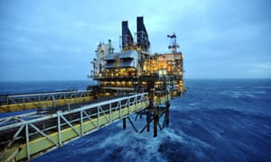 A BP platform in the North Sea.