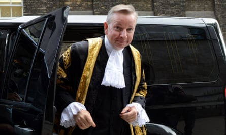 Michael Gove, the Minister for Justice