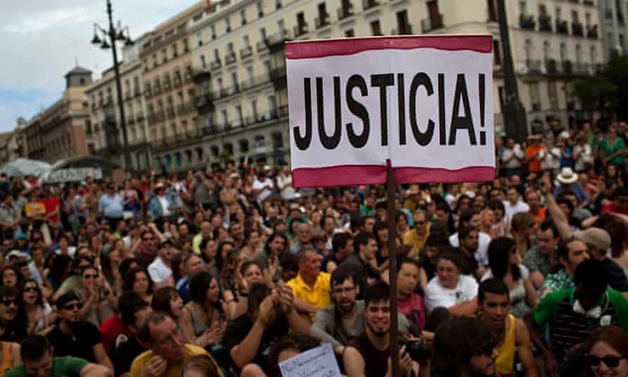 Unemployed protest madrid