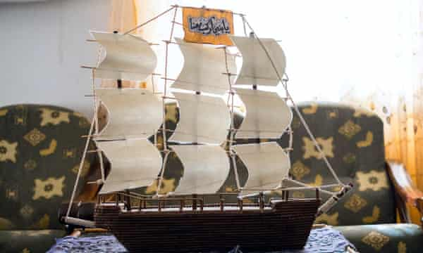 Abu Muhammad al-Maqdisi's model ship made for him by a senior member of Isis who was incarcerated in Abu Ghraib