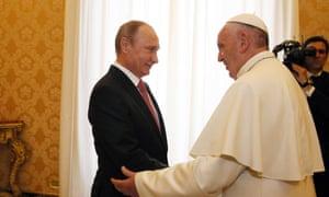 Pope Francis and Vladimir Putin
