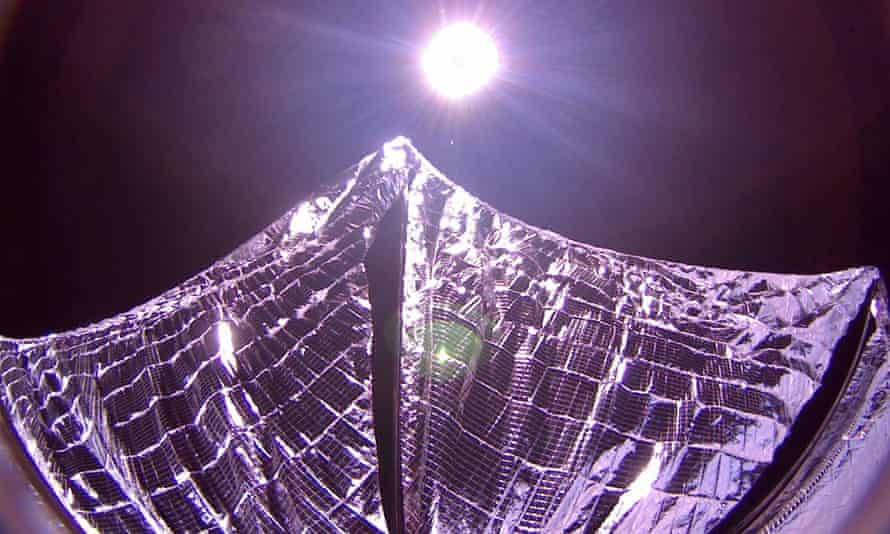 Deployed panels on the LightSail spacecraft in Earth orbit.