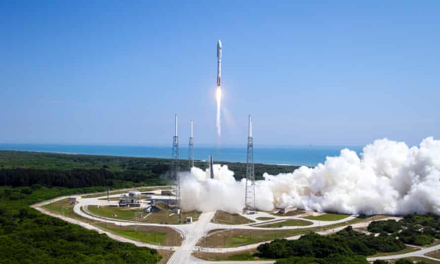 The Atlas V rocket carrying LightSail taking off from Cape Canaveral on 20 May.