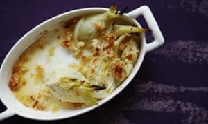 Fennel baked with butter and parmesan cheese
