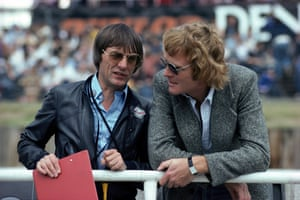 Mosley, right, with Bernie Ecclestone in 1978.