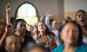 The congregation at the Methodist church of Marianao in Havana