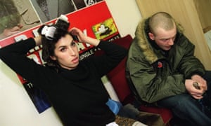Amy Winehouse backstage at Bush Hall
