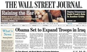 The Wall Street Journal's European and Asian editions are to return to a broadsheet format