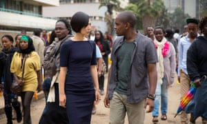 Global communication…Doona Bae and Aml Ameen in Sense8.