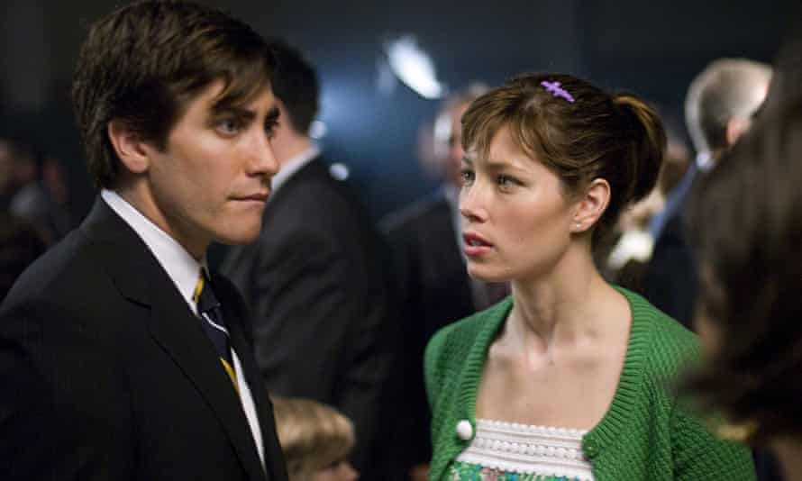 Jake Gyllenhaal and Jessica Biel in Accidental Love.