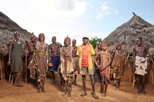 Members of the Hamar tribe: (from left) Muko, Kerri Suma, Arrada, Kerri Bodo, Gele, Ayke Muko, Berkee, Ilko, Rebo and Zubo.