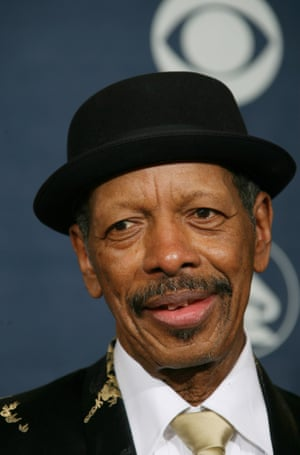 """(FILES) This February 11, 2007 file photo shows former nominee for Best Jazz Instrumental Album, Individual or Group Ornette Coleman at the 49th Grammy Awards in Los Angeles. Saxophonist and composer Ornette Coleman, whose 1959 album """"The Shape of Jazz to Come"""" is considered one of the most groundbreaking in the genre's history, died June 11, 2015. He was 85. His death was confirmed to AFP by his publicist, Ken Weinstein. Coleman was born and raised in Texas but died in New York, where he spent much of his career."""