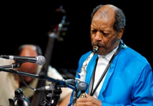 US saxophonist and composer Ornette Coleman performing at the Warsaw Summer Jazz Days in Warsaw, Poland.