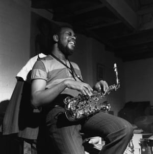 September 1966, Probably Englewood Cliffs, New Jersey, USA --- Ornette Coleman with his saxophone during a rehearsal for his <Empty Foxhole> album.