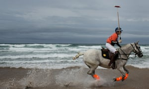 Horses are used for a number of sport and leisure activities including beach polo.
