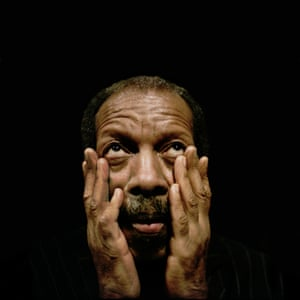 Portraits of famous Saxaphonist Ornette Coleman posed at the Royal Festival Hall on the 11th July.; It was just last month that he was treated for heat-related dehydration after he collapsed during his performance at the Bonnaroo Music & Arts Festival in June.