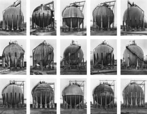 Gas Tanks 1983-92 by Bernd and Hilla Becher.