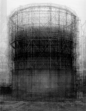 Inspired by the Bechers' series, Idris Khan's ghostly composite Every… Bernd and Hilla Becher Prison Type Gasholder.