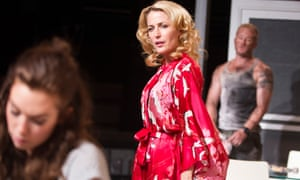 Vanessa Kirby, Gillian Anderson and Ben Foster in A Streetcar Named Desire at the Young Vic in 2014