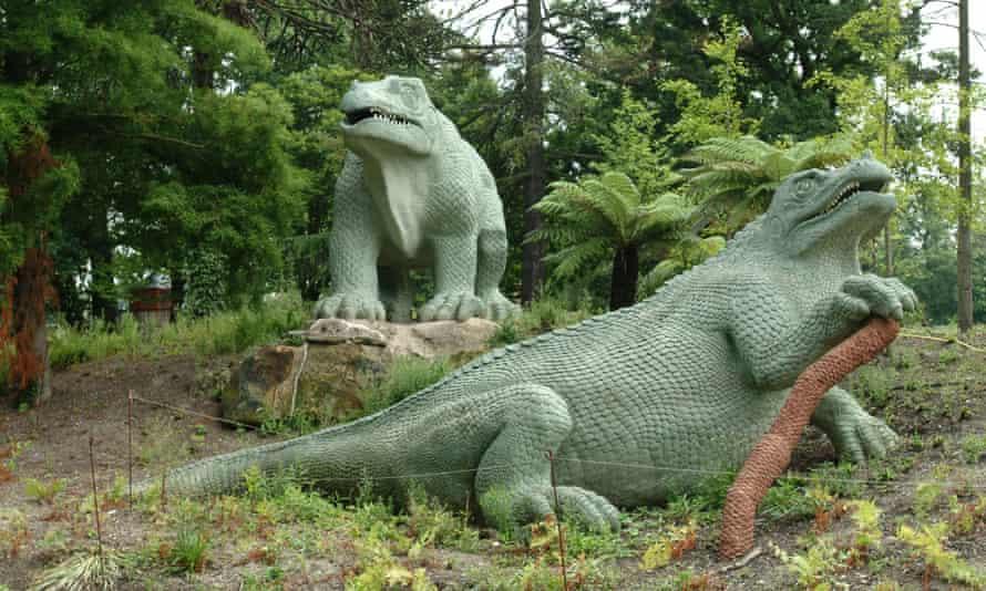 Crystal Palace Park dinosaurs.