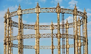 Empty gasometer, Great Yarmouth, Norfolk, UK.. Image shot 06/2009. Exact date unknown.