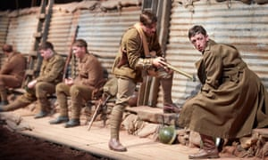 Sheers's site-specific play <em>Mametz</em> performed by National Theatre Wales in Great Llancayo Upper Wood near Usk in 2014.