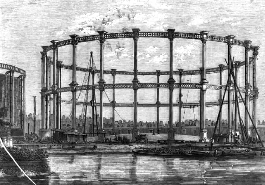 The Bethnal Green gas holders in 1858…