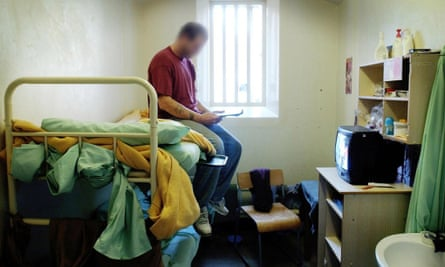 An inmate at HMP Wandsworth, London.