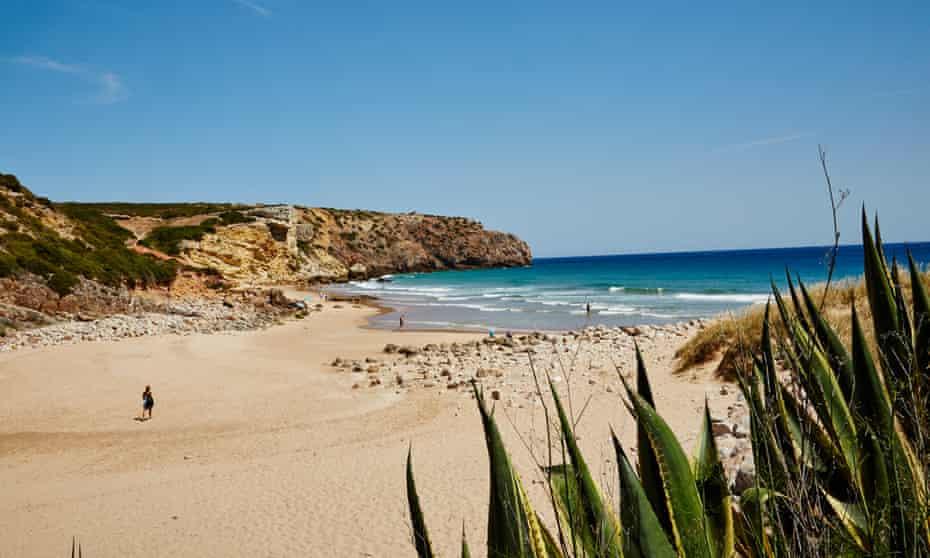 Zavial Beach, Algarve, Portugal.