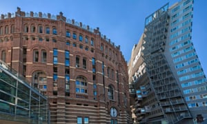 An 1896 gasometer in Vienna converted in 2001  into apartments and a shopping centre,