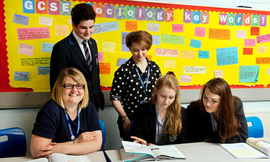 Kate Gordon, left and Laura Campion, centre, with pupils at Hayes School in Bromley