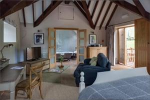 Bedroom at Tudor farmhouse