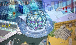 An artist's impression of the new Crystal Maze experience