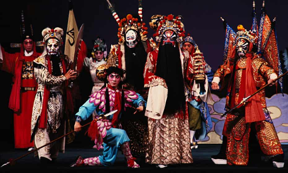 Extravagant Chinese costumes from Beijing opera