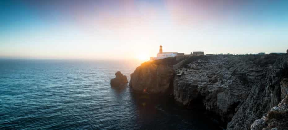 Sunset from Cabo de São Vicente, Europe's most southwesterly point. The cape was a sacred location for Celts, Greeks and Romans.