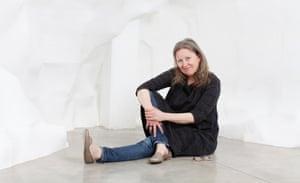 'It's philosophical': Katrín Sigurdardóttir in her cave-like work at the Parasol Unit.