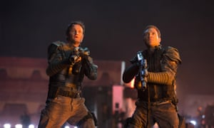 Jason Clarke and Jai Courtney in Terminator Genisys.