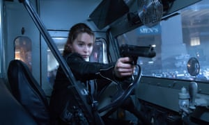 Emilia Clarke as Sarah Connor in Terminator Genisys.