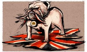 Ben Jennings illlustration – a British bulldog