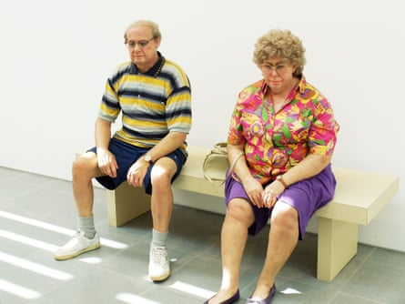 Old Couple on a Bench by Duane Hanson.