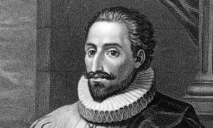 The Spanish novelist Miguel de Cervantes (1547 - 1616), circa 1600.