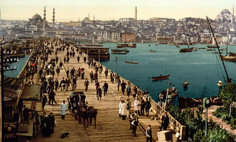 Galata Bridge, Istanbul, 1895