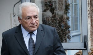 Dominique Strauss-Kahn leaving his hotel in Lille, northern France, for his trial on prostitution charges.