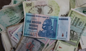An old Z$100tn note pictured in 2010.